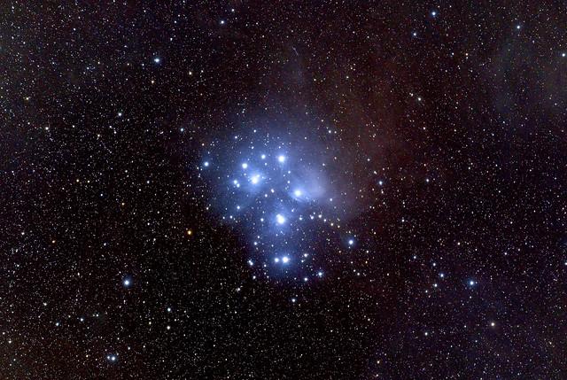 Pleiades - M45, taken by standard camera