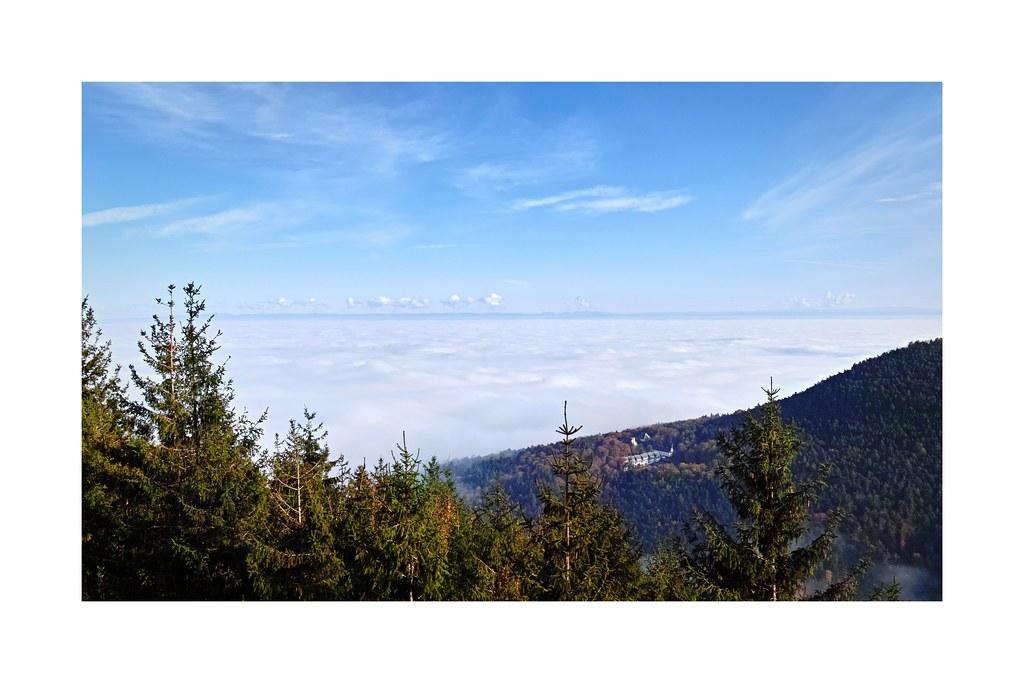 Plaine d'Alsace sous les nuages