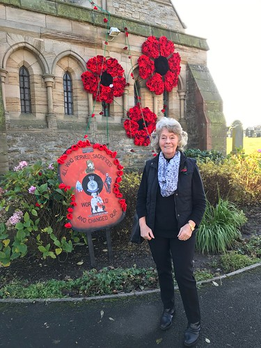 Marilynn Ord at Marley Hill remembrance service 10 Nov 19