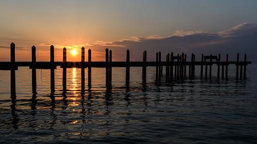 barnegatbay newjersey jerseyshore pier dock sunrise