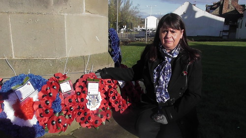 Sonya Hawkins at Swalwell remembrance service 10 Nov 19