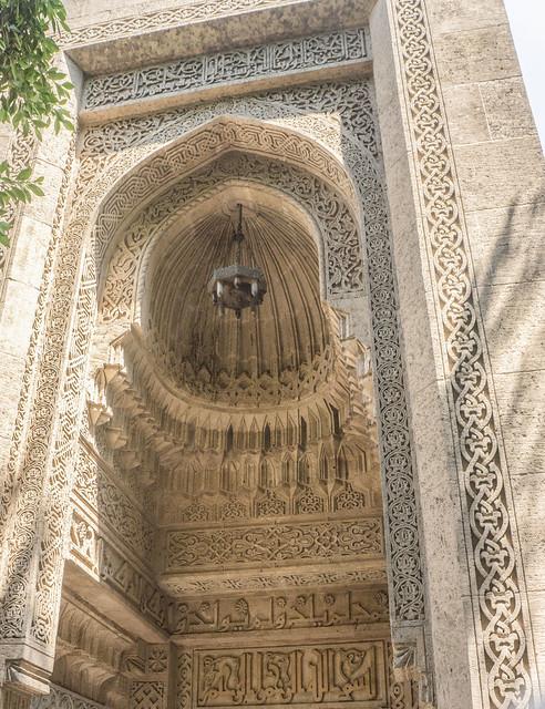 The Mosque's entrance at Prince Mohamed Ali estate in Egypt's Cairo مدخل مسجد قصر الامير محمد على
