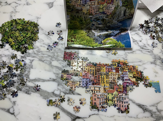 M's jigsaw therapy