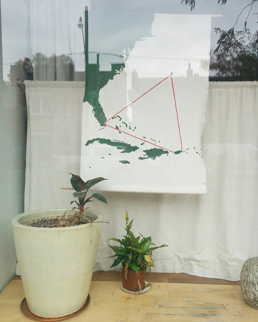 Bermuda Triangle #toronto #junctiontriangle #dupontstreet #windowdisplay #tapestry #map #bermudatriangle