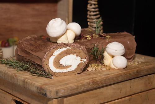 Tiramisu Yule Log Cake