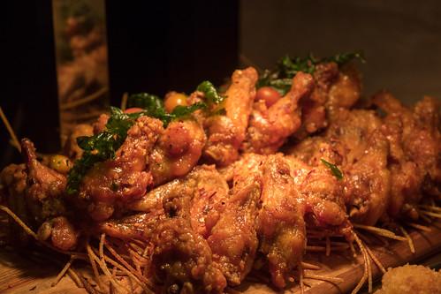 Chicken Wings with Honey Sriracha Glaze