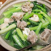 Pork ribs soup with yu choy
