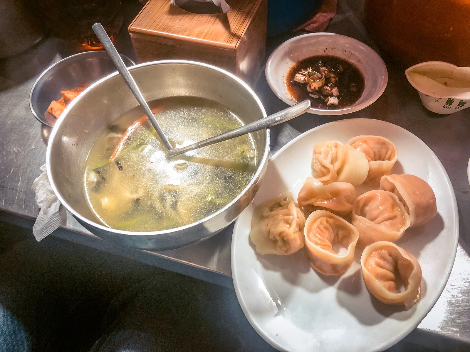 Kalguksu and Kimchi Mandu at Gwangjang Market