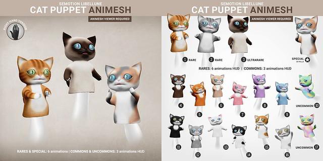 SEmotion Libellune Cat Puppet Animesh