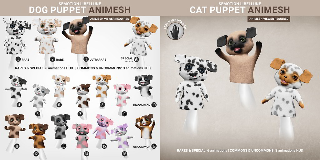 SEmotion Libellune Dog Puppet Animesh