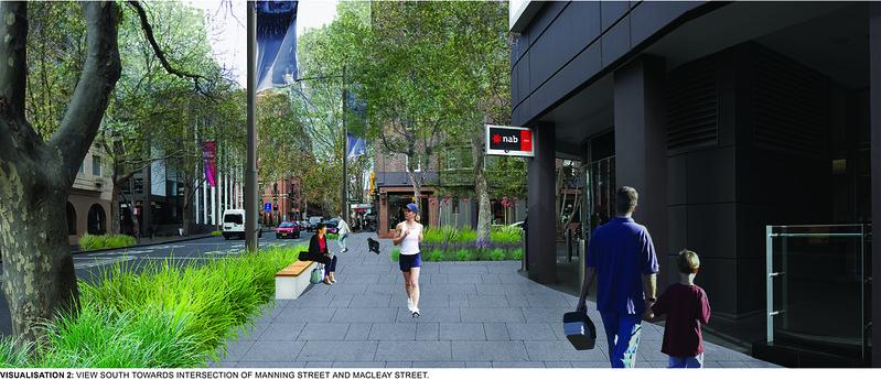 Consultation Board-Macleay Street Upgrade-Visualisation 2