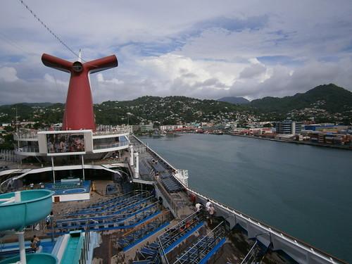carnivalvictory cruising cruise carnivalcruiseline caribbeancruising caribbeansea caribbeanisland stlucia castries cruisepooldeck