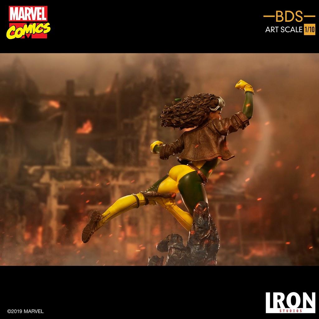 奮力揮出右拳的攻擊姿態! Iron Studios Battle Diorama 系列 Marvel Comics【小淘氣】Rogue 1/10 比例雕像