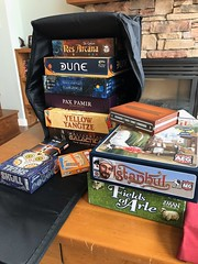 The weekend's selection of board games