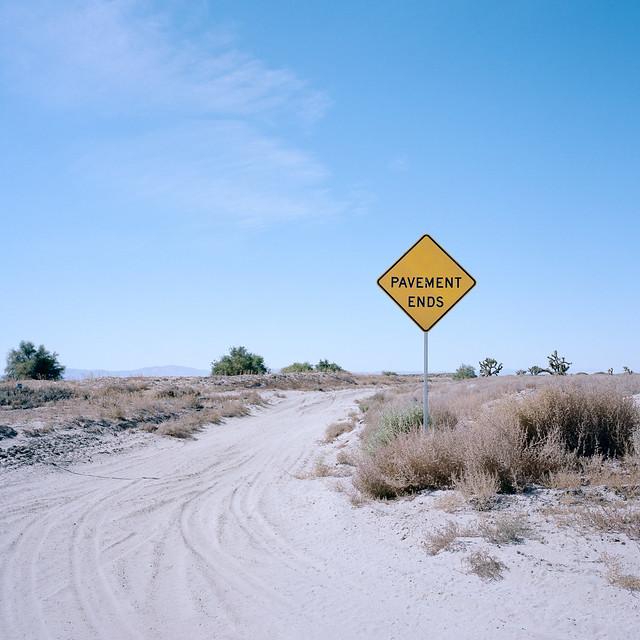 pavement ends. mojave desert, ca. 2019.