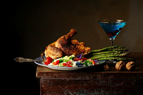 Chicken, Asparagus and Aviator