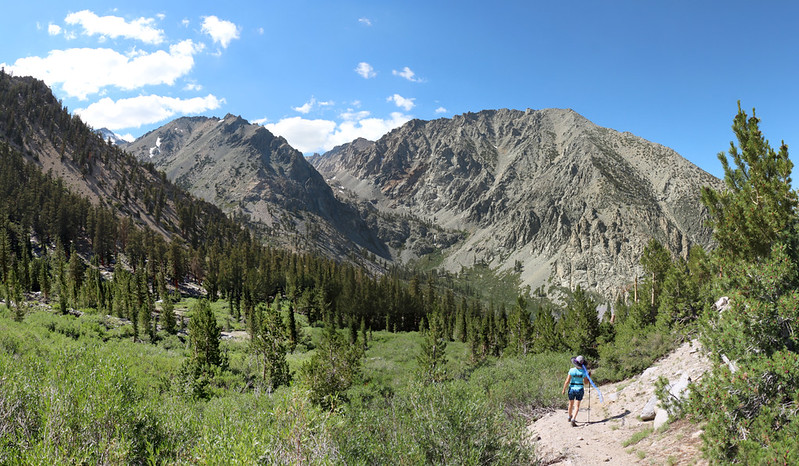 It was getting late so we headed back down to Onion Valley Campground, on the Robinson Lake Trail