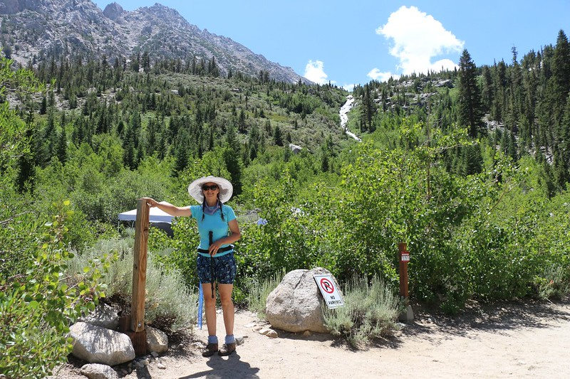 The sign was missing at the Robinson Lake Trail trailhead