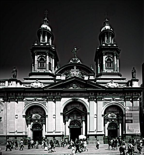 La Catedral Metropolitana de Santiago Exterior
