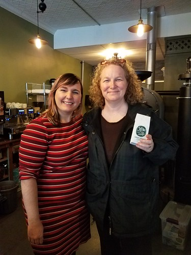 With my new friend Emily at Snapping Turtle Coffee Roasters. From Travel Tips: The Best Place to Experience the Magic of Christmas
