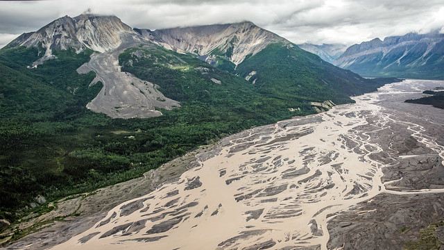 Rock Glacier and braided Nizina River