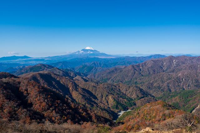 丹沢の山々と富士山@塔ノ岳