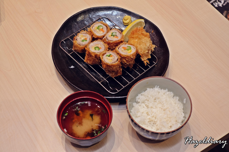 Shiokoji Tonkatsu Keisuke-Paya Lebar Square-Rolled Pork & vegetables