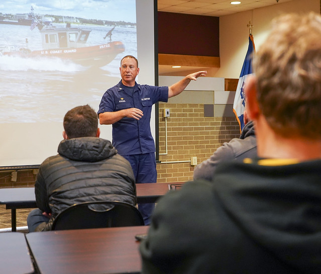 Joint Civilian Orientation Conference visits United States Coast Guard Base Portsmouth