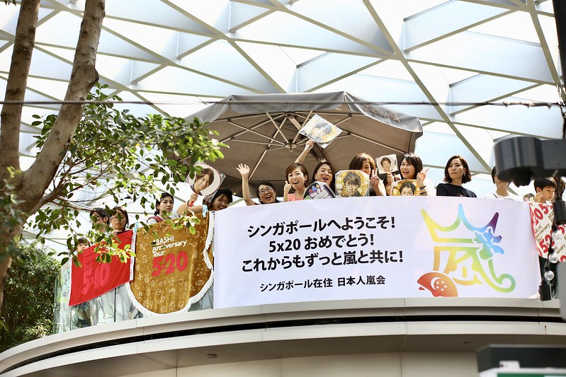 Arashi Announces Upcoming Activities To Fans In Singapore