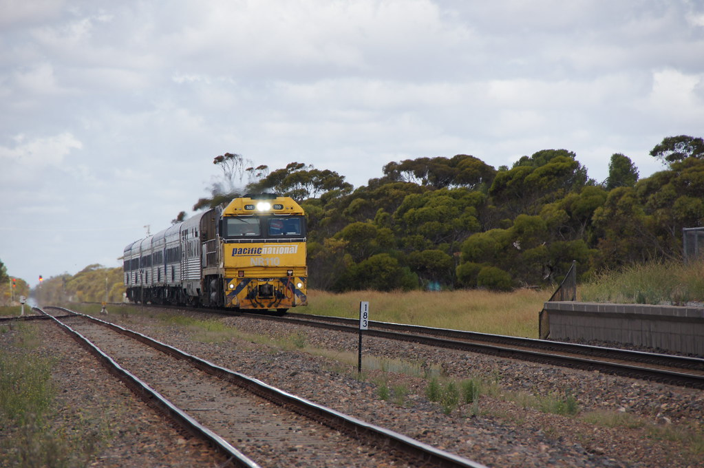 NR110 on The Overland at Coonalpyn, 5/1/2019 by class400railcar