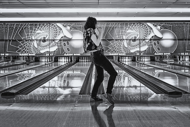 bowling alley reflection