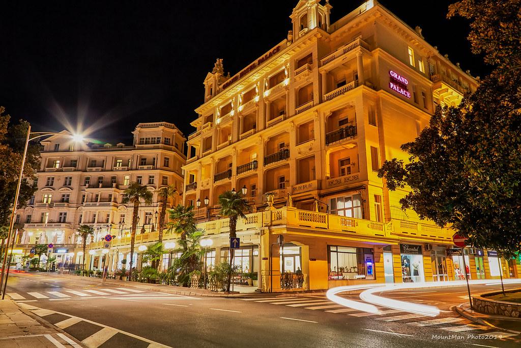 Opatija by night - Grand Palace