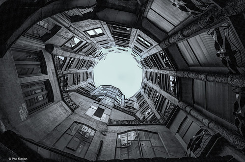 From the courtyard of Casa Milà - Barcelona