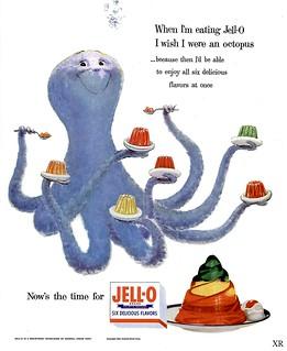 1954 ... Octopus flavored Jello- yack!