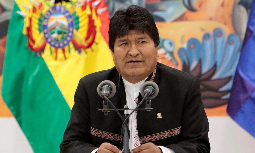 莫拉萊斯週日宣布辭去玻利維亞總統一職。(圖片來源:Stringer/Reuters)