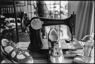 sewing machine and tango shoes