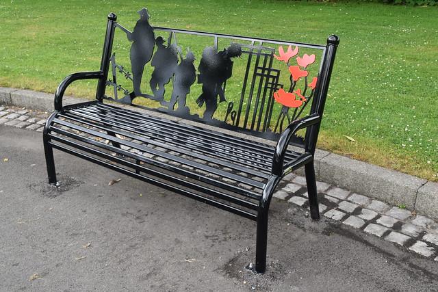 War Memorial Bench, Dartmouth Park, Birmingham.