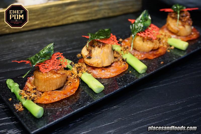 chef pom bangkok crispy hotate