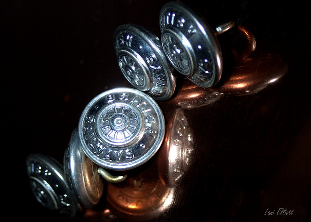 British Buttons......REFLECTION.....Macro Mondays !