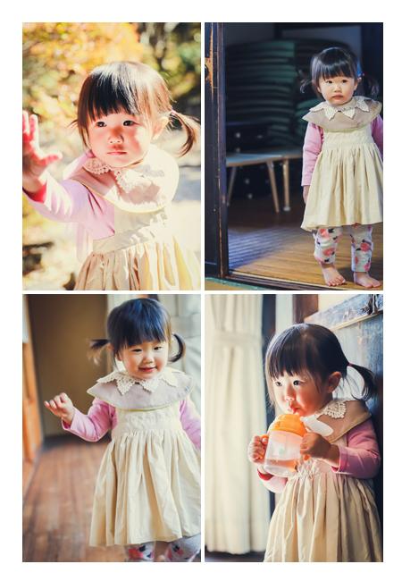 1歳の女の子 家族写真のロケーションフォト