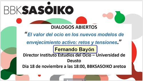 BBKsasoiko Diálogo Abierto con Fernando Bayón