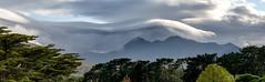 Lenticular clouds over the Gap of Dunloe, Kerry, Ireland