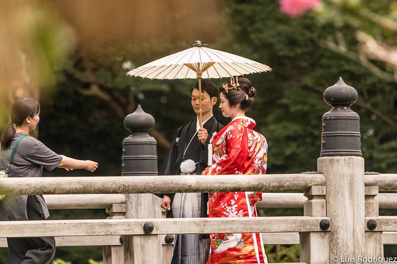 Fotografías de boda en el estanque Kujo