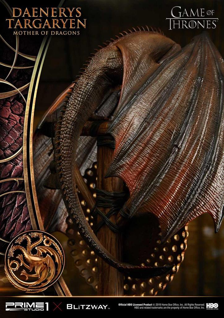 Prime 1 Studio × Blitzway《冰與火之歌:權力遊戲》丹妮莉絲·坦格利安 龍之母 デナーリス・ターガリエン マザー・オブ・ドラゴンズ UPMGOT-01 1/4 比例全身雕像