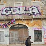 Street art, Avenida 24 de Julho, Lisbon, Portugal