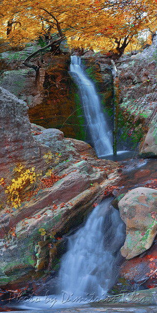 Anthochori falls vertical Panorama
