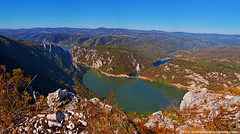 Danube Kazan gorge at clear day