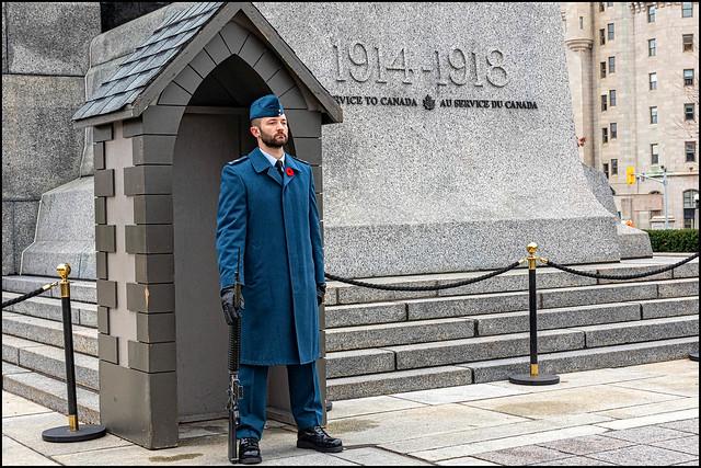 On Guard at the National War Memorial