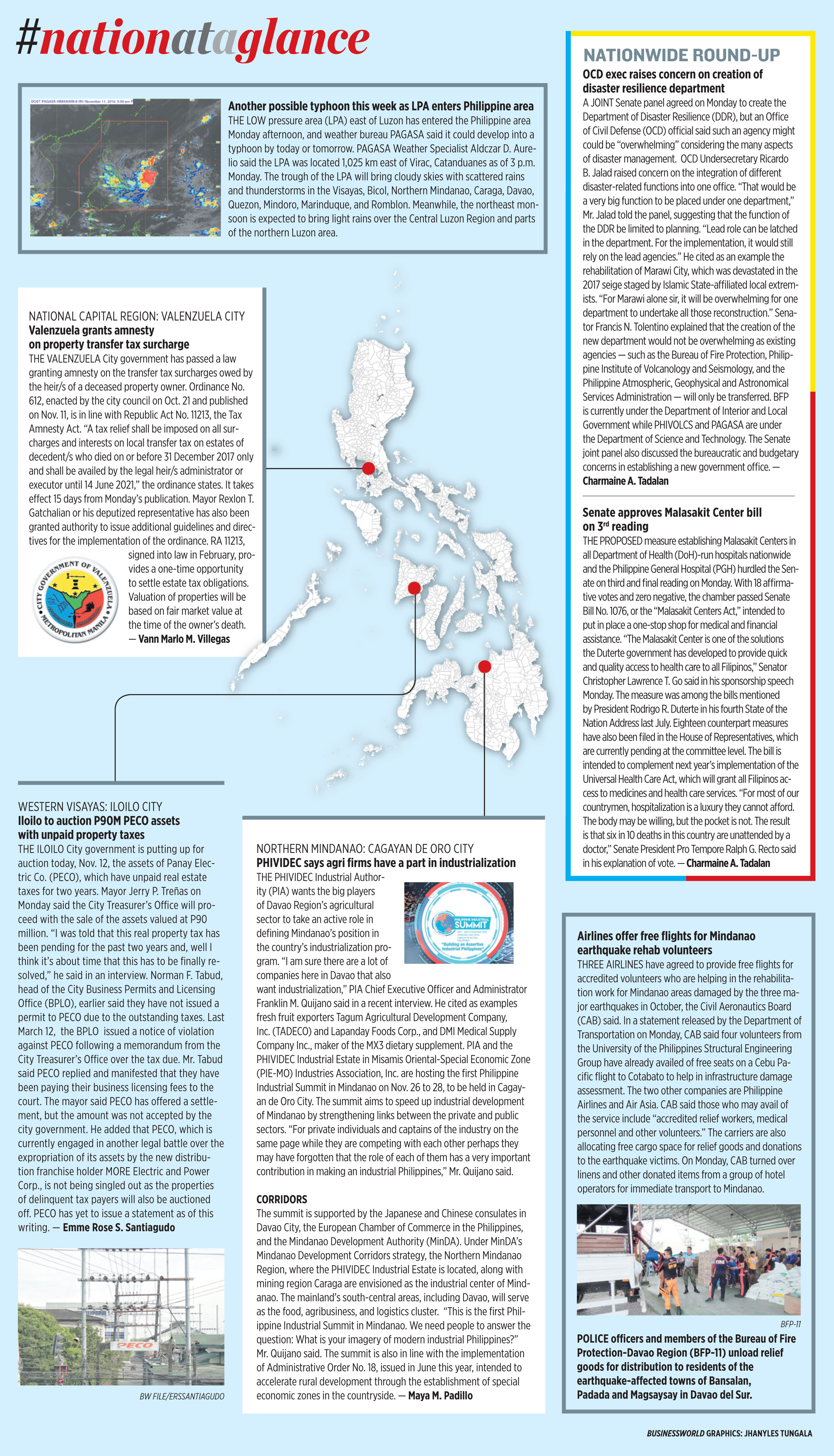 Nation at a Glance — (11/12/19)