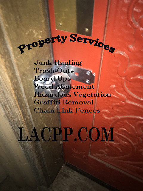 nuisance property plywood board up sherman oaks CA